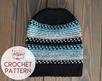 PATTERN ONLY | Talicah | Adult Slouchy Beanie Pattern | PDF