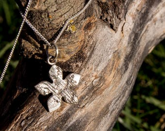 Handmade Sterling Silver Jasmine Lace Necklace