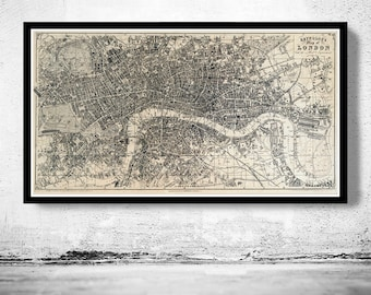 Old Map of London 1851