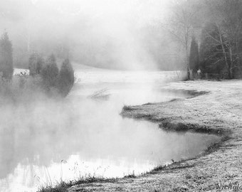 black and white photography, winter photography, landscape photography, landscape print, fog photography, black and white print, fine art