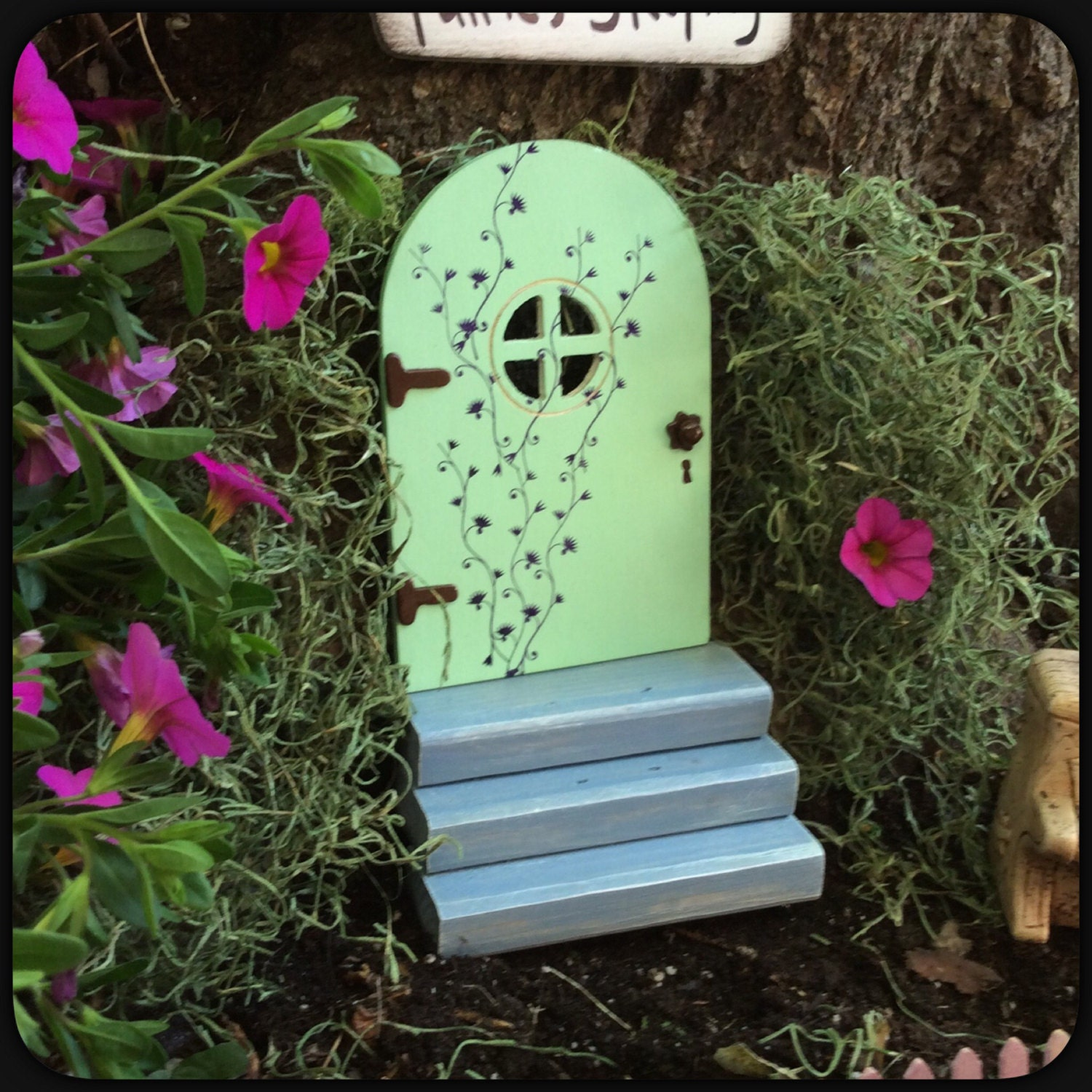 Mothers Day Gift, Fairy Door, window, Garden Decor, Gift, Outdoor ...