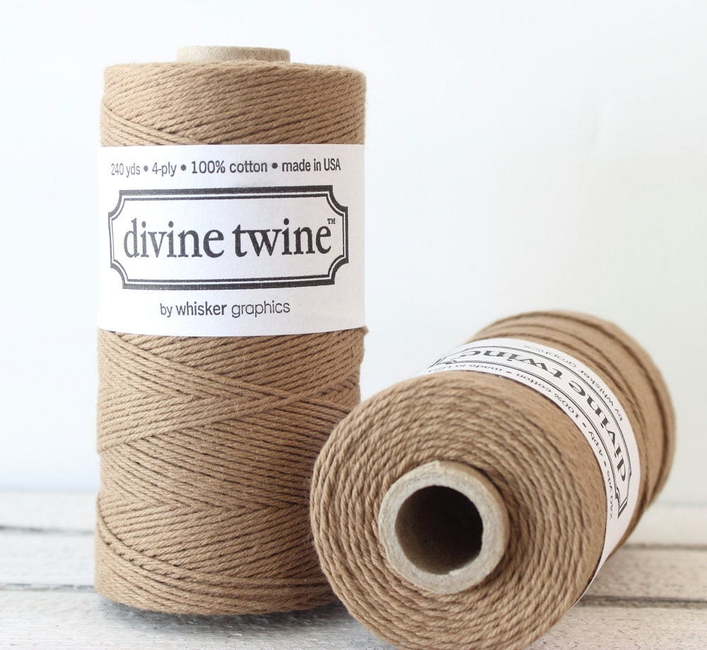 Brown Twine, Brown Bakers Twine, Bakers Twine, Brown String, Rustic ...