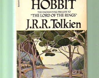 The Hobbit by J. R. R. Tolkien. Ballantine 49th 1974 Edition In Very Good Vintage Condition. Middle Earth.