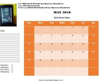 Digital Book Blogging Calendar May 2018