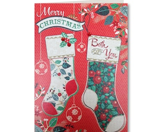 50% OFF - Merry Christmas - Happy Christmas - Seasons Greetings - Both of You - EV23 - Evergreen Collection