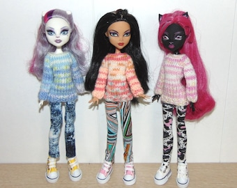 Sweater, Pants, Monster High Sweater, Monster High Pants, Monster High, Monster High clothes, clothes for dolls, doll sweater, doll trousers