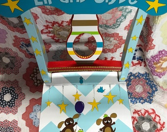Personalized Kids Chair Frogs and Snails and Puppy Dog Tails Little Boys Are Made of Chair Custom Hand Painted Chair Little Boys Nursery