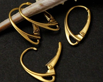 Luxury Earwires sterling silver leverbacks vermeil HIGH QUALITY choose quantity