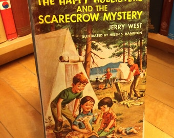 The Happy Hollisters and the Scarecrow Mystery by Jerry West/ Vintage Book/ Children's Book/ Kid's Book/ Color Illustrations/ Old Book