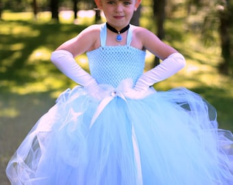 Cinderella dress,Cinderella costume,Cinderella,Light blue tulle dress,Disney princess dress,Princess dress