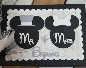 Personalized Wedding Disney Autograph Book