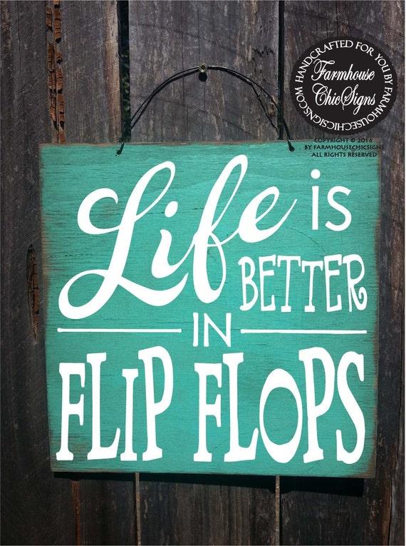 Beach decor beach house flip flop sign beach decorartion for Is flipping houses easy