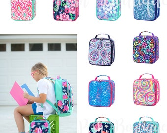 Monogrammed Lunch Box, Back to School, Lunch Bag, Girls Lunch box, Boys Lunch Box, Kids Lunch Box, Preppy lunch box, Personalized Lunchboxes