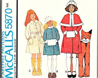Retro 1977 MCCALL'S Sewing Pattern 5870