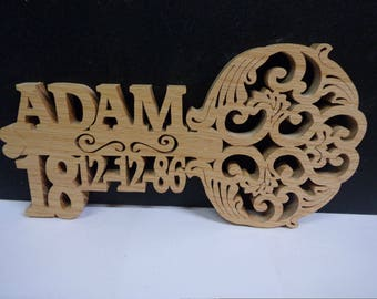 personalised wooden handmade 18th/ 21st birthday keys/ celebration birthday keys