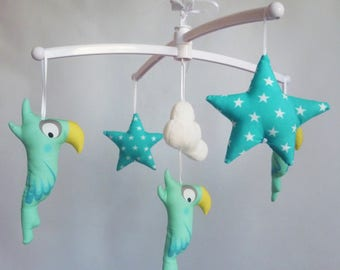 Coco mint baby mobile