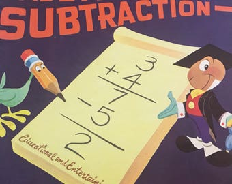 What Disney's addition and subtraction album vintage from 1963