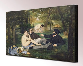 Edouard Manet Luncheon on the Grass Canvas Print Wall Decor Wall Art Print Ready To Hang