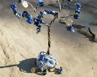 Lapis Lazuli Wire Tree