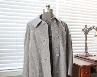 1950s-1960s Gray Wool Swing Coat