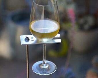 Monogrammed Boho Wine Glass Holder, Personalized Garden Wine Holder, Personalized Wine Lover Gift