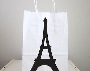 Eiffel Tower Goody Bags, Eiffel Tower  Favor Bags, Eiffel Tower Gift Bags, Eiffel Tower Favors, Paris Birthday, Paris Baby Shower