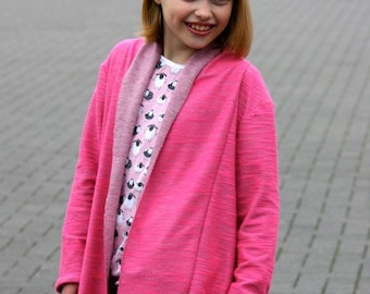 ESTHER cardigan, sizes 110-152 (5-12yr) / INSTANT DOWNLOAD