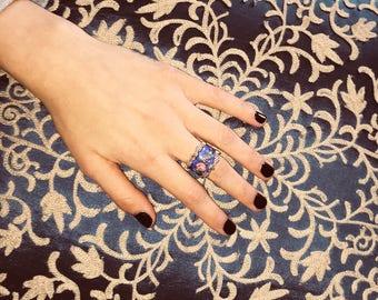 Oversize Vintage Marie Antoinette Gold Platted Ring