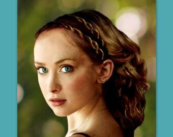 boho hair band twist headband wedding hair style Grecian hairpiece hair braid double gift for her plait headband bridal hairband accessory