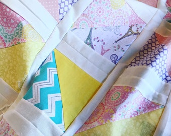 Spring in Paris Minky back baby Quilt