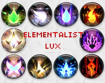 Elementalist Lux Evolutions (Pin-Back Buttons)