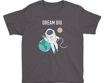 Dream Big Children's Tee - To The Moon And Back - Kid's T-Shirt - Boy's or Girl's - Outerspace