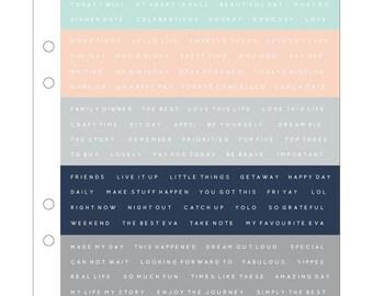 Kaisercraft Planner Stickers - Word Stickers