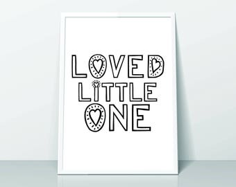 Loved Little One Print (A4) 4 Colour Options
