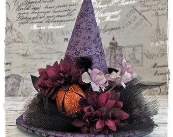 SALE!! Witch Hat Decoration Purple Black and Orange