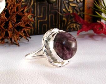 Handmade Sterling Lepidolite Ring size 6