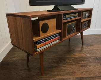 Solid Mahogany TV Stand, Stereo Cabinet Or Media Console, Mid Century  Modern With Tapered McCobb Legs. Made To Order In 2 Weeks.