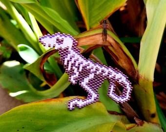Beaded Dinosaur Skeleton pin
