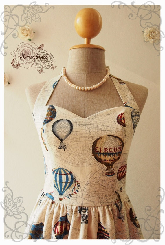 love journey dress balloon world map dress whimsical