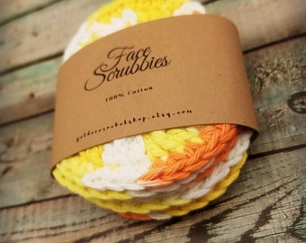 Face Scrubby Set * Facial Scrubby Set * Set of Face Scrubbies * READY TO SHIP