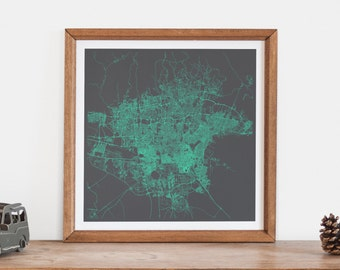 TEHRAN MAP - Customizable Colors, Tehran Walll Art, City Map Poster, Condo Home Decor