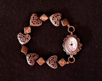 Lady's Elastic Band Watch - Bronze