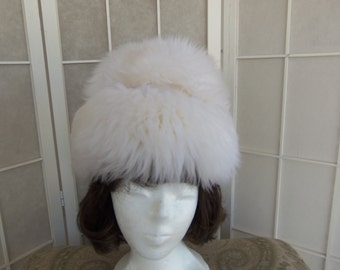 Vintage 1960's Genuine Tuscan Lamb Skin Fur Made in Italy Winter Hat