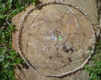 Wire Wrapped  Dreamcatcher Kippah Yarmulke Jewish Headcovering for Women