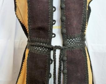 Vintage Tunic Leather Vest