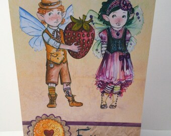 The little fairy greeting card, make a wish... > handmade 21cm x 15cm