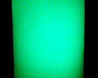 Glow In the Dark Vinyl Sticker Craft Sheet - 5 x 13 inch - 3M Photoluminescent Film 6900 HPPL