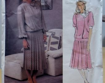 Vogue 1410 Albert Nipon designer dress sewing pattern. Size 14 UNCUT