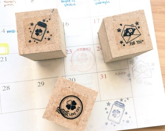lucky clover rubber stamps set