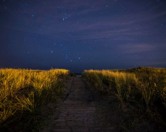 The Path to Good Harbor Beach, Gloucester, MA, Good Harbor Beach, Astrophotography, Stars, Star Photography, Beach Photography